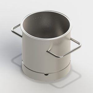 Small sterile vessel, standard, with side handles