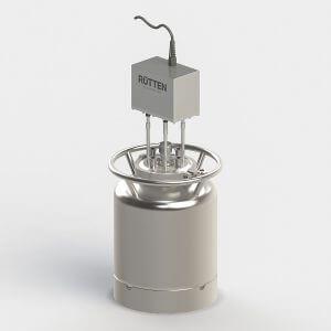 Vibromixer R1 mounted on a Rütten sterile vessel