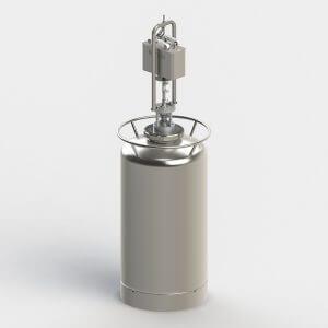 Vibromixer R2/R3 monuted on a Rütten sterile vessel